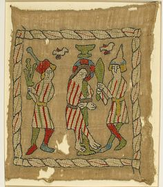 Panel depicting Flagellation  of Christ Date: 14th century Culture: German Medium: Cotton, wool