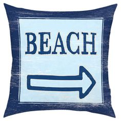 Shoreside Pillow Seaside Home Decor, Beach Activities, Dream Beach Houses, Throw Cushions, Pillow Fabric, Perfect Pillow, I Love The Beach, Beach Themes, Beach Decorations
