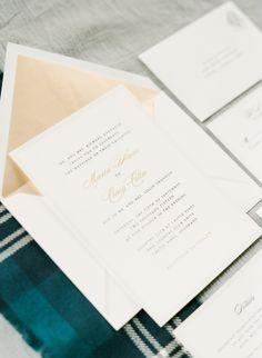 elegant traditional scottish wedding in colorado - Papyrus Wedding Invitations