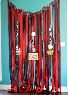 Pirate Party Decor Photo Backdrop EASY diy cheap