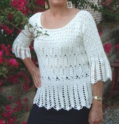 Fall fashion women's crochet tunic by LolasWonders on Etsy, $110.00 Crochet Tunic, Crochet Tops, Women's Clothing, Peplum, Autumn Fashion, Pullover, Clothes For Women, Trending Outfits, Handmade Gifts