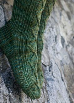 """""""Sea Inspired Socks"""" from Tin Can Knits (12-15-2015)"""