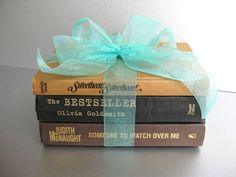 Vintage Book Bundle, Shabby and Chic, Cottage Chic, French Country, Old Books, Office Decor, Black, Gold. $16.00, via Etsy.