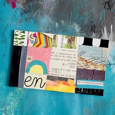 #artjournal #mixedmedia #collage Mixed Media Journal, Mixed Media Art, Altered Book Art, Yellow Daisies, Index Cards, Art Festival, Medium Art, Challenge, Collage