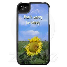 """""""Don't worry, be happy"""" iPhone 4 Case"""