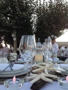 coastal chic theme for le diner san francisco