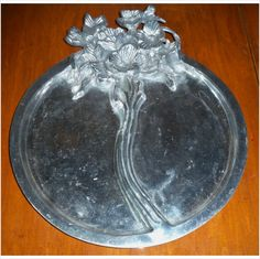 Decorative Floral Silverplate Divided Serving Tray Listing in the Silver Plate,Silver,Antiques Category on eBid United States