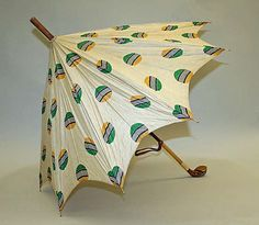 Umbrella, Golfing  Date: 1920–39 Culture: American (probably) Medium: silk, wood