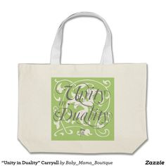 """Unity in Duality"" Carryall Large Tote Bag"