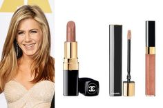 Oscars 2015- It took a cocktail of three lip colors—Chanel's Rouge Coco Ultra Hydrating Lip Colour in Louise ($36), Rouge Allure Gloss in Sensuel ($34) and Glossimer in Unity ($30)—to get Jennifer Aniston's perfect nude lip.