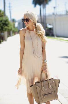 Pleated Midi Dress...
