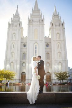 Cambri and Michael's Beautiful Indoor Greenhouse Wedding in Utah. By Gideon Photo. Salt Lake City Temple, www.gideonphoto.com