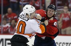 Why did T.J. Oshie go after Brayden Schenn? He was first on the ice, of course.