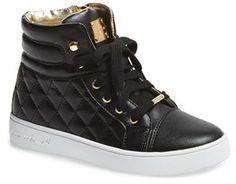 MICHAEL Michael Kors 'Ivy Cora' Quilted High Top Sneaker (Toddler, Little Kid & Big Kid)