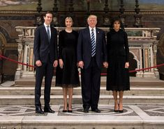 23e17fdaf5e6 Melania Trump changes outfits and lets her hair down before Brussels