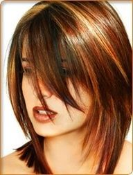 red hair with highlights and lowlights - Google Search | Beauty Darling -- love the cut & color #hair