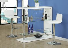 Monarch 2 365 - White/ Chrome Metal Hydraulic Lift Barstool 2 Pieces | Sale Price: $149.00