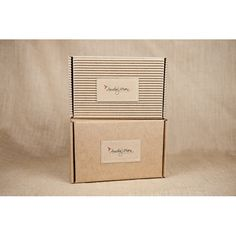 Corrugated and Kraft Keepsake Boxes