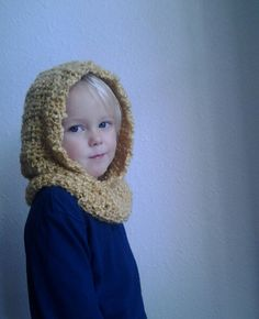 Hooded Cowl.  Crocheted Neck Warmer with Hood.. via Etsy....MAKE THIS