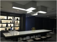LINK XXL ceiling light, designed by Ramón Esteve for Vibia, at AC Hotel in South Beach Miami http://www.vibia.com/en/lamps/show/id/00056/ceiling_lamps_link_xxl_design_by_ramon_esteve.html?utm_source=pinterest&utm_medium=organic&utm_content=ac_hotel_miami&utm_campaign=link_xxl