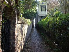 """Stoll's handsome brick path is a mere breath, a… City Of Charleston, College Of Charleston, Charleston South Carolina, Carolina Beach, Southern Belle Secrets, Brick Path, Isle Of Palms, I Love The Beach, Secret Places"