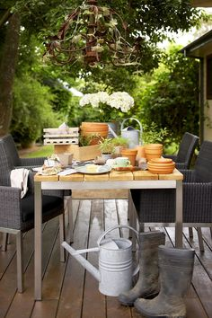 Eco Outdoor Tallow dining armchair and Lennox dining table. Outdoor furniture | livelifeoutdoors | Patio furniture | Outdoor dining | Teak outdoor | Outdoor design | Outdoor style | Outdoor luxury | Designer outdoor furniture | Outdoor design inspiration | Pool side furniture | Outdoor ideas | Luxury homes