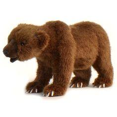 Oso Grizzly 4 patas de peluche - más en peluchetes.com