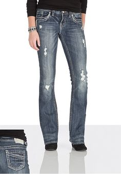 silver jeans co. � Aiko Stud Embellished Jeans (original price, $89) available at #Maurices