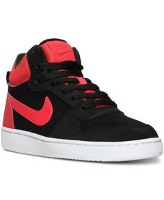 Bring some classic basketball style to your look with the Nike Big Boys' Court Borough Mid Premium Casual Sneakers. Classic design teams up with premium materials for a stylish sneaker you'll want to