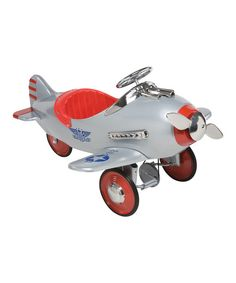 Look! In the driveway! It's a trike, it's a plane, no, it's a pedal plane! This flashy ride is miles above a normal trike, perfect for petite pilots or any little one who wants to earn their wings. Its charming, retro feel is stocked with modern features like high-traction rubber wheels and non-slip pedals for extra control. Best of all, the propeller spins with every push of the pedal.                                            ...