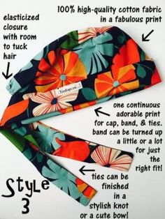 Have you ever been curious about the anatomy of a KimKap, or how a KimKap is made? Scrub Hat Patterns, Hat Patterns To Sew, Sewing Patterns Free, Free Sewing, Sewing Tutorials, Scrubs Pattern, Sewing Projects, Coin Couture, Surgical Caps