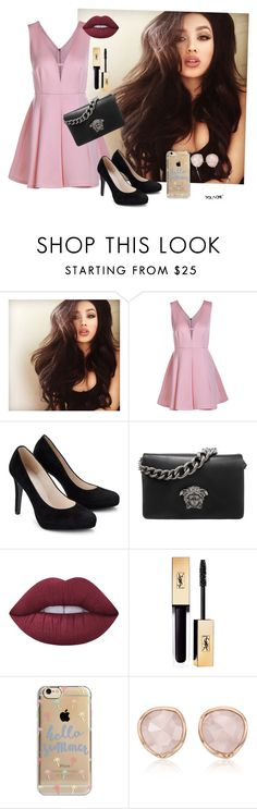 """PINK"" by luhpayne-948 on Polyvore featuring Versace, Lime Crime, Agent 18 and Monica Vinader"