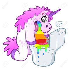 Illustration about Bizarre illustration of Unicorn pukes rainbow isolated. Illustration of rainbow, intoxication, sick - 46948322 Unicorn Puke, Cute Unicorn, Rainbow Unicorn, Unicorn Drawing, Unicorn Art, Unicorn Painting, Majestic Unicorn, Magical Unicorn, Unicorns