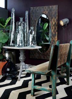VISI / Articles / Home on La Grange African Interior Design, South African Design, Zen Decorating, Dark Interiors, Dining Chairs, Articles, Inspired, Modern, House