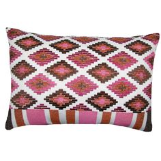 Trendy and modern, this fun embroidered pillow is perfect for updating the decor in your home. Made from cotton and filled with a down feather blend this pillow is soft and stylish.