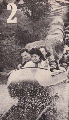 Annette riding the Matterhorn at Disneyland, 1960.
