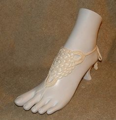 Wedding Barefoot Sandals Bridal Anklets Sandles Sandal Shoes Jewelry $14.00