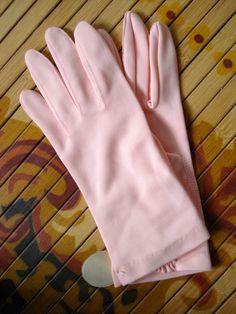 Vintage 1950s Gloves Peach Harms of California 201482