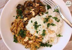 Indian bouddha bowl: curry d'aubergine et lentilles en sauce aux noix de cajou - recette végétale - La Fée Stéphanie