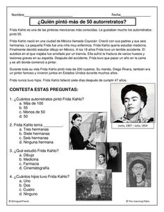 Printable biographies of famous people in Spanish. Great tool for research and in class reading activities.