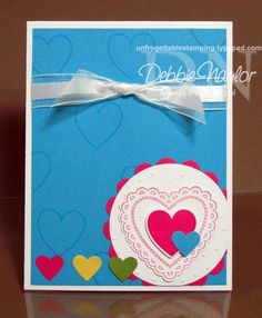Unfrogettable Stamping | SU! Hearts A Flutter CASE'd card  www.unfrogettablestamping.typepad.com