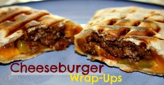 The Everyday Momma: Cheeseburger Wrap-Ups {recipe}