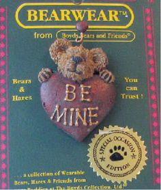 Boyds Bears Hartley B Mine PIN - from 1999 MINT NEW in cello VALENTINE BEAR in Dolls & Bears, Bears, Boyds   eBay