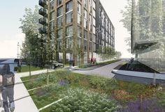 Accor Village London | regeneration | hotel design Hotel Architecture, Hotel Branding, Hospitality Design, London, Interior Design, Places, Nest Design, Home Interior Design, Interior Designing