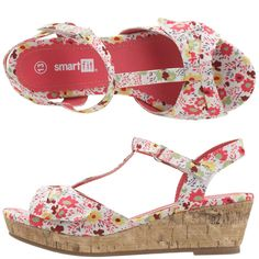 Girl's section floral shoes at Payless, tried some on this morning, totally made my summer sandal list!