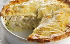 Chicken and leek pie Chicken and leek pie recipe - By Australian Women's Weekly, This creamy, mustardy chicken and leek pie is big enough for all the family. Perfect for dinner, or a winter weekend lunchtime. Chicken And Leek Pie, Chicken Bacon, Chicken Recipes, Chicken Quiche, Creamy Chicken Pie, Chicken Pie Puff Pastry, Chicken Pie Recipe Easy, Quorn Chicken, Healthy Chicken
