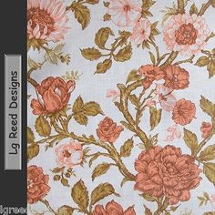 Vintage Wallpaper Orange Flowers wall paper is vintage era 1970 - 1980. Sabyasachi ...