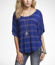 I love these tops, I have one in grey and gold. Buy a size smaller than you would regularly wear, as they tend to run big. @ Express, $34.99