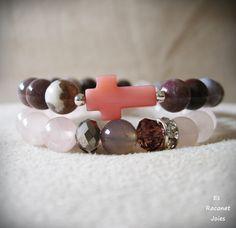 Pulsera cruz rosita. https://www.facebook.com/esraconet.joies