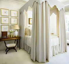 Beautiful cream canopy bed - Phoebe Howard